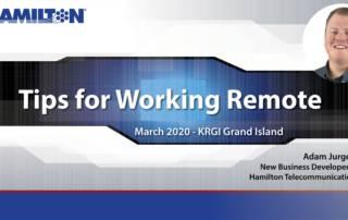 Tips For Working Remote, Adam Jurgens