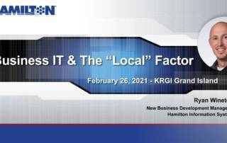 """Business IT & the """"Local"""" Factor with link to radio interview."""