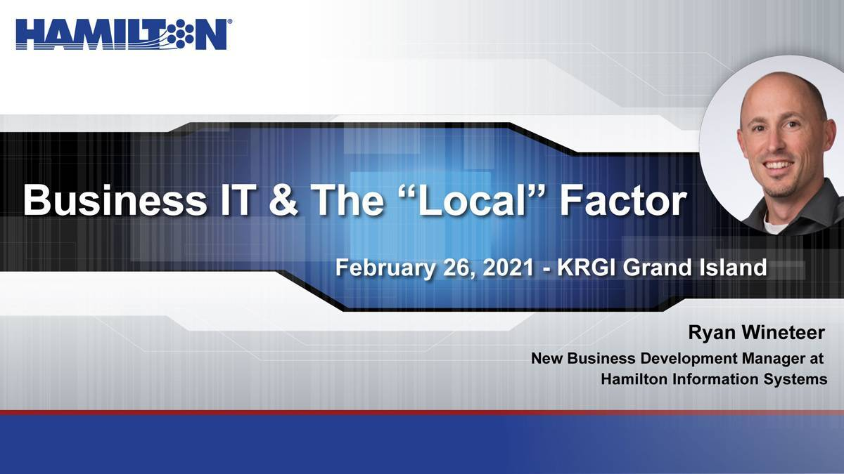 "Business IT & the ""Local"" Factor with link to radio interview."